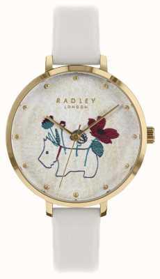 Radley Ladies Watch Flower And Dog Print Chalk Strap RY2684