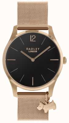 Radley Ladies Watch Rose Gold Mesh Strap RY4356