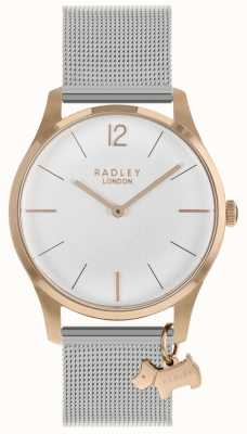Radley Ladies Watch Rose Gold Case Silver Mesh Strap RY4355