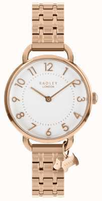 Radley Ladies Watch Rose Gold Open Shoulder Bracelet RY4344