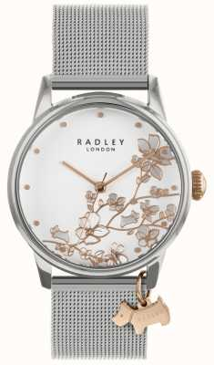 Radley Ladies | Stainless Steel Silver Mesh Bracelet | White Dial | RY4347
