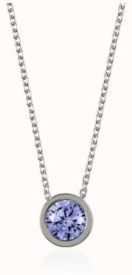 Radley Jewellery Silve Fine Curb Chain With Light Sapphire Stone Set Pendant RYJ2027