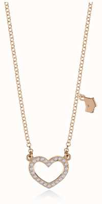 Radley Jewellery Rose Gold Belcher Chain With Pave Ditsy Heart Pendant RYJ3054