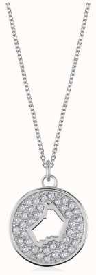 Radley Jewellery Necklace With Stone Set Pendant With Dog Head Cut Through RYJ2053