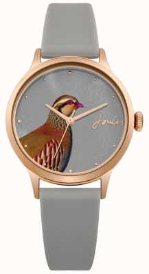 Joules Womens Grey Silicone Strap Grey Dial With Pheasant JSL010ERG