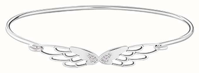 Chamilia Pave Wings ID Bangle Silver Medium/large 1010-0466