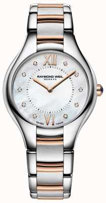 Raymond Weil Womens Noemia Diamond Dial Two Tone Bracelet 5132-SP5-00985