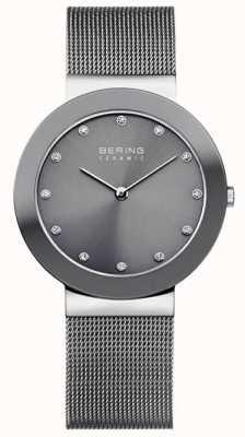 Bering Grey Ceramic Mesh Bracelet Grey Dial 11435-389