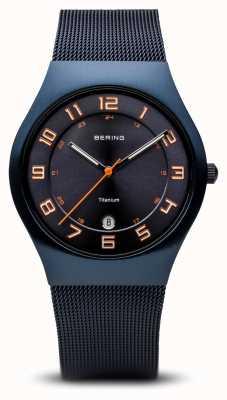 Bering Titanium | Brushed Blue 11937-393