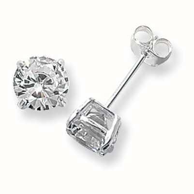 Treasure House Silver Cubic Zirconia Stud Earrings 7 mm G5137CZ