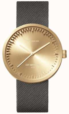 Leff Amsterdam Tube Watch D38 | Cordura Brass | Grey Strap LT71025