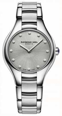 Raymond Weil Womens Noemia Diamond Set Stainless Steel Bracelet 5132-ST-65081