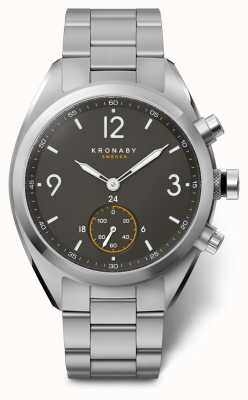 Kronaby 41mm APEX Black Dial Stainless Steel Bracelet A1000-3113 S3113/1
