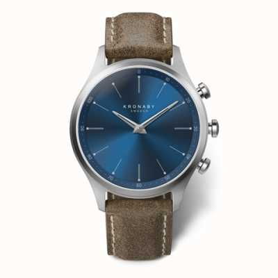 Kronaby Mens Sekel 41 | Blue Dial | Truffle Leather Strap A1000-3759