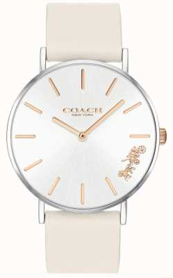 Coach Womens Perry Watch | Chalk White Leather | White Dial 14503117