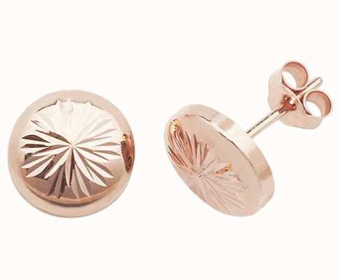 Treasure House 9k Rose Gold Stud Earrings ES541R