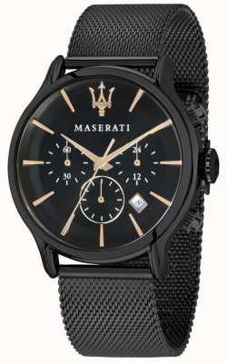 Maserati Mens Epoca 42mm | Black Dial | Black Mesh Bracelet R8873618006