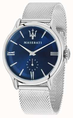 Maserati Mens Epoca 42mm | Blue Dial | Silver Mesh Bracelet R8853118006