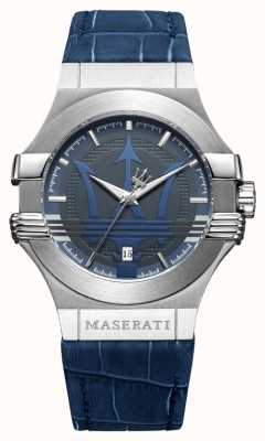Maserati Men's Potenza 42mm | Stainless Steel | Blue Dial | Blue Strap R8851108015