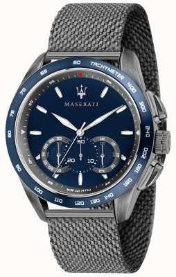 Maserati Mens Traguardo 45mm | Blue Dial | Grey Mesh Bracelet R8873612009