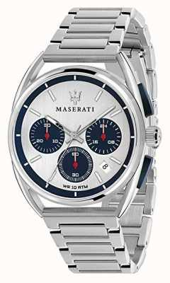 Maserati Mens Trimarano 41mm | Silver/Blue Dial | Stainless Steel R8873632001