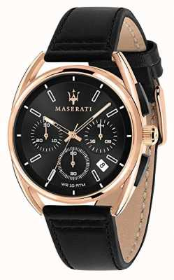Maserati Mens Trimarano 41mm | Rose Gold Case | Black Dial | R8871632002