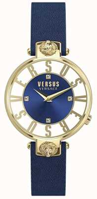 Versus Versace Womens Kirstenhof | Blue/White Dial | Blue Leather Strap VSP490218