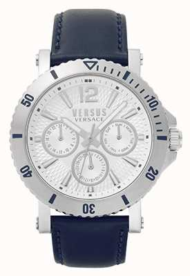 Versus Versace Mens Steenberg | Silver Dial | Blue Leather Strap VSP520118