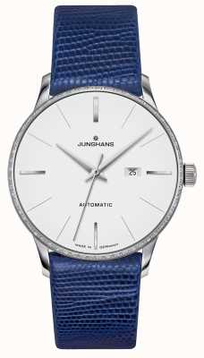 Junghans Meister Damen Automatic | Diamond Set | Blue Lizard Strap 027/4846.00