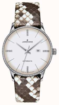 Junghans Meister Damen Automatic   Diamonds   Python & Lizard Straps 027/4847.00