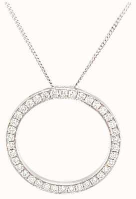 18k White Gold Diamond 0.70ct Circle Necklace BJP0119/WG