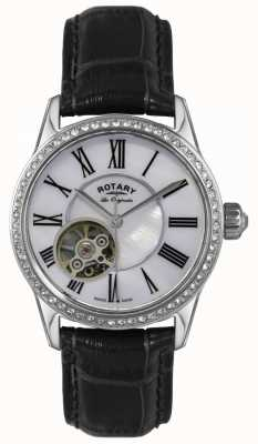 Rotary Womens | Les Originales | Automatic | Black Leather Strap LS90511/38