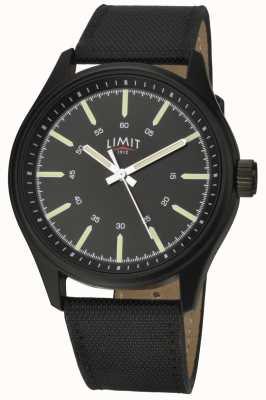 Limit | Mens | Black Leather Strap | Black Dial | 5948.01