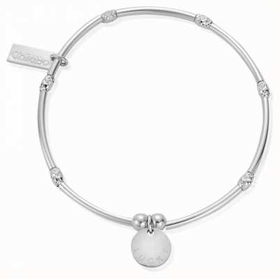 ChloBo Women's | Mini Noodle Sparkle Rice Lucky Disc | Bracelet SBMNSR088