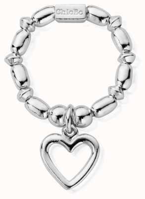 ChloBo Women's | Mini Rice Open Heart | Ring SRMR2007