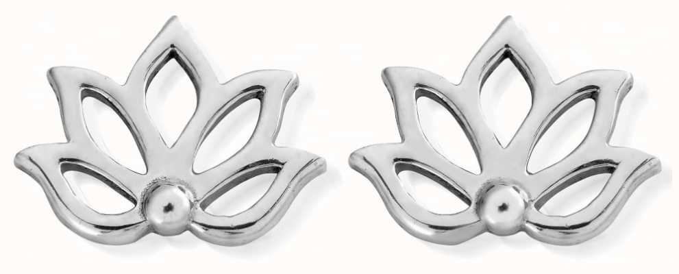 ChloBo Silver Lotus Stud | Earrings SEST495
