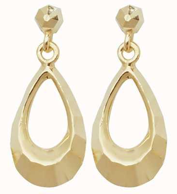 Treasure House 9k Yellow Gold Oval Drop Stud Earrings ES452