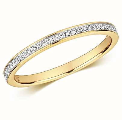 Treasure House 9k Yellow Gold Half Eternity Diamond Ring RD692