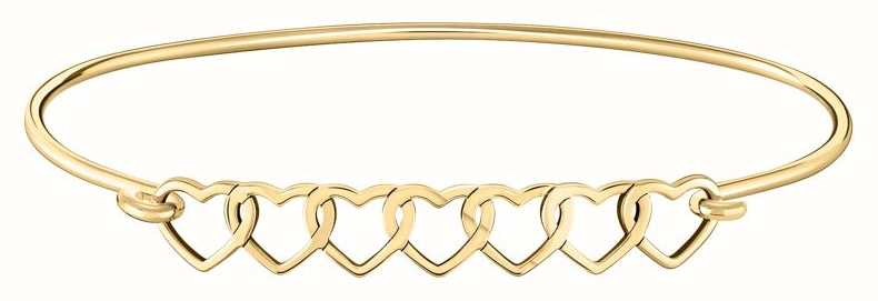 Chamilia | Interlocking Hearts ID Bangle | Gold Plated | 1010-0489