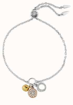 "Adore By Swarovski Organic Circle Charm Bracelet 6.5-8"" Adjustable 5419369"