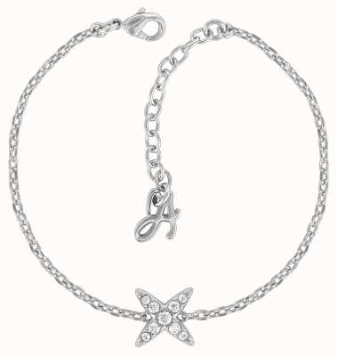 "Adore By Swarovski 4 Point Star Bracelet 6.5-8"" Rhodium Plated 5259853"