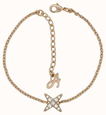 "Adore 4 Point Star Bracelet 6.5-8"" Rose Gold Plated 5303131"