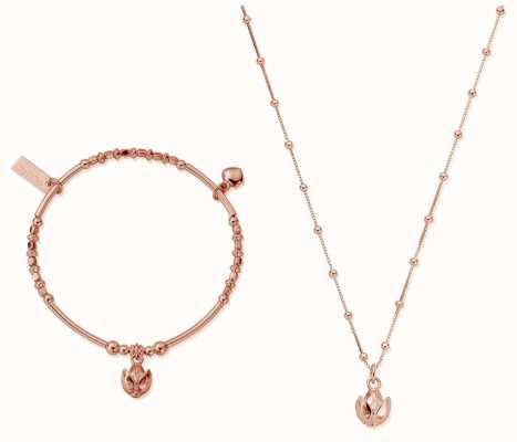 ChloBo | Rose Gold Beautiful Soul Set | Necklace & Bangle RBNVAL19