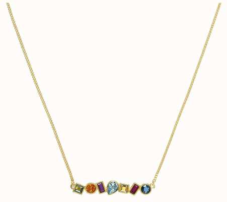 """Adore By Swarovski Mixed Crystal Bar Necklace Gold 16-18"""" Length 5375514"""