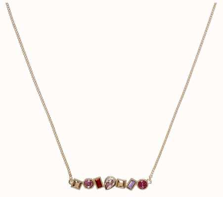 "Adore By Swarovski Mixed Crystal Bar Necklace 16-18"" Rose Gold Plated 5375515"