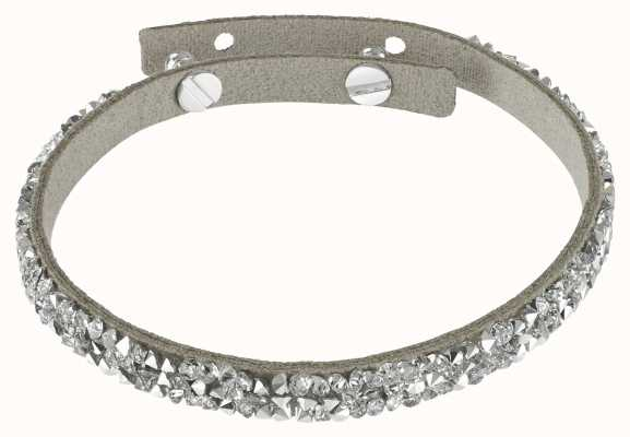 Adore By Swarovski Skinny Crystal Fine Rock Suede Bracelet Silver 5275207
