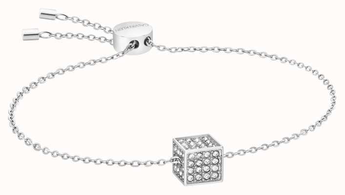 Calvin Klein | Womens Rocking | Silver Bracelet | Swarovski Crystal KJ9CWB040100