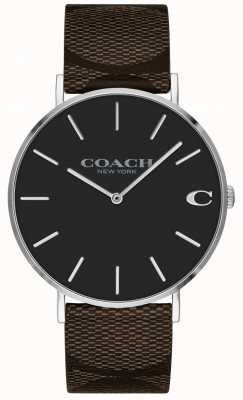 Coach | Mens Charles Watch | Brown Leather Strap | 14602156