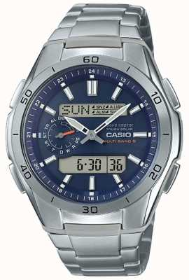 Casio | Mens Radio Controlled | Titanium Chronograph Watch | WVA-M650TD-2A2ER