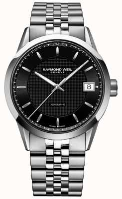 Raymond Weil | Mens Freelancer Automatic | Black Dial | Stainless Steel | 2740-ST-20021